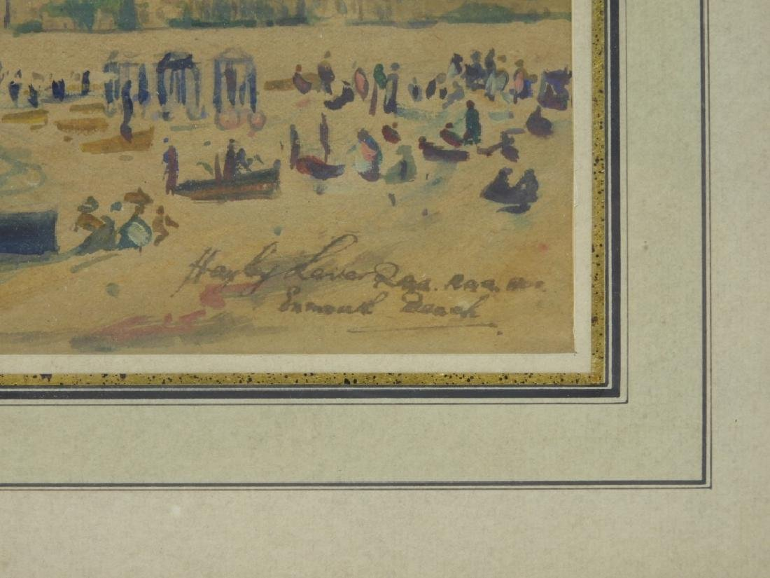 Hayley Lever English Beach Scene WC Painting - 4