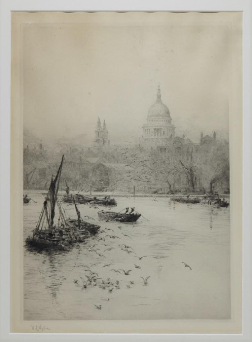 William Wyllie Thames River London Boat Engraving