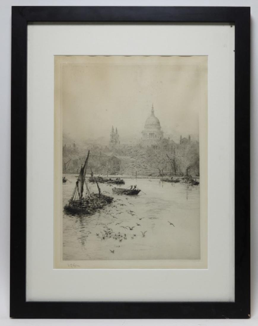 William Wyllie Thames River London Boat Engraving - 2