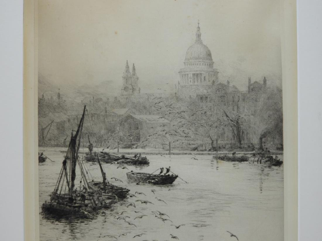 William Wyllie Thames River London Boat Engraving - 3