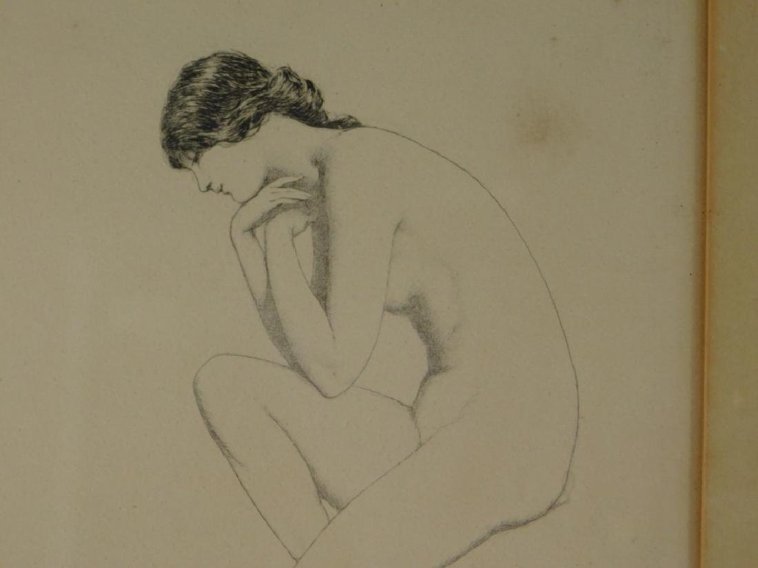 Warren Davis The Frog Female Nude Etching - 3