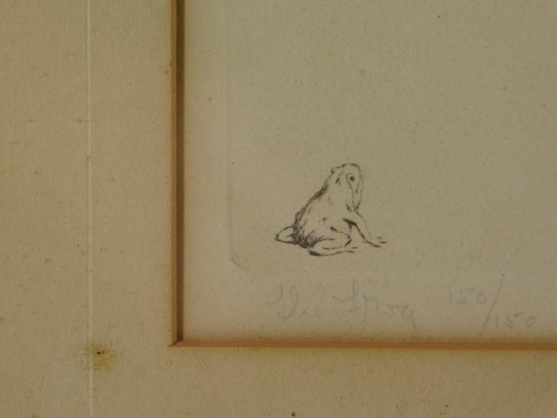 Warren Davis The Frog Female Nude Etching - 5