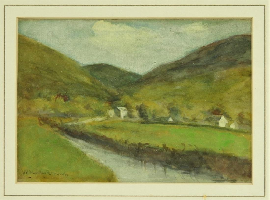 William Staples Drown Village Landscape Painting