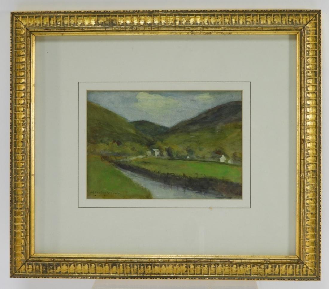 William Staples Drown Village Landscape Painting - 2