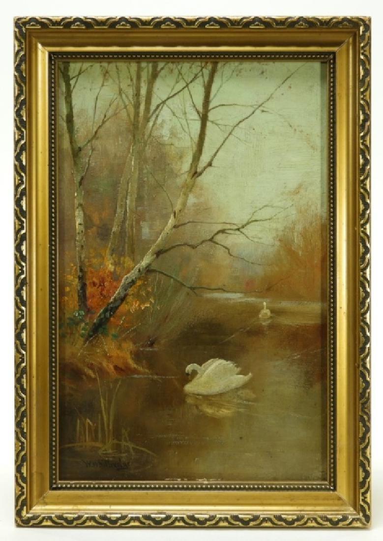 Worthington Whittredge Hudson River OP Painting