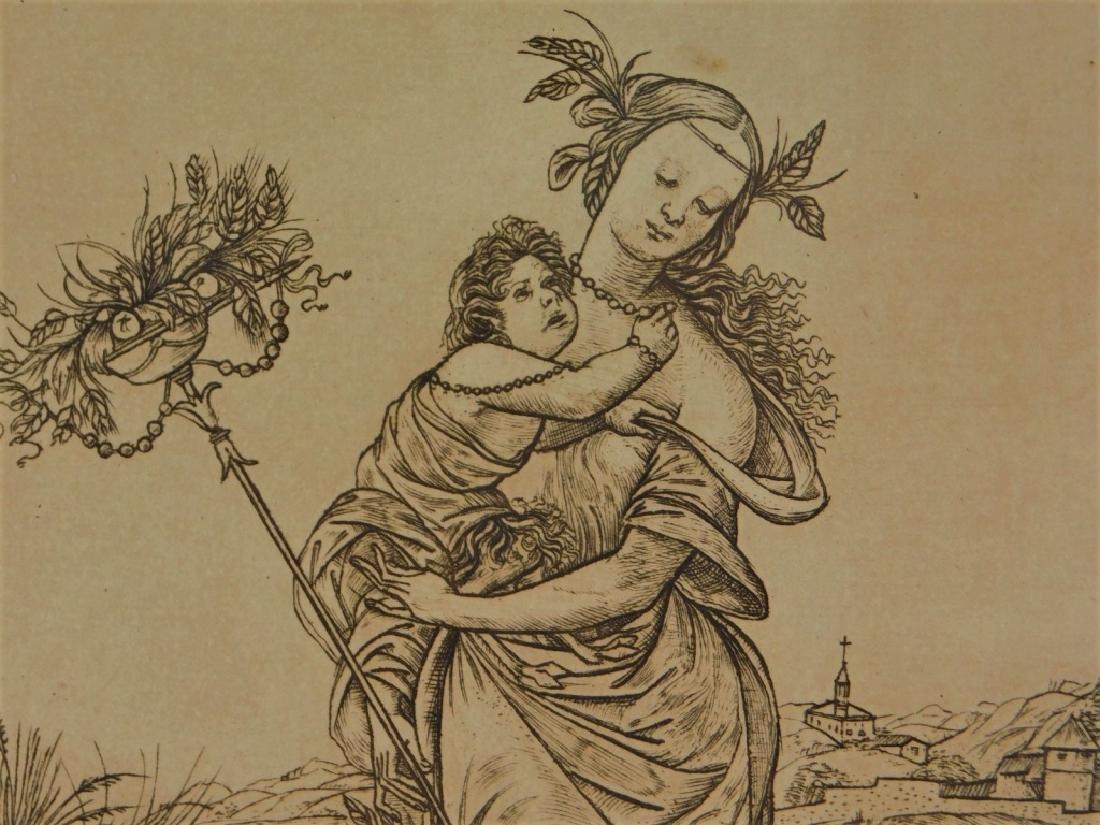Cristofano Robetta Ceres Allegorical Satyr Gravure - 4