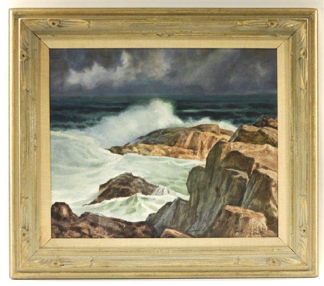 Joseph L. C. Santoro WC Rocky Coast Painting