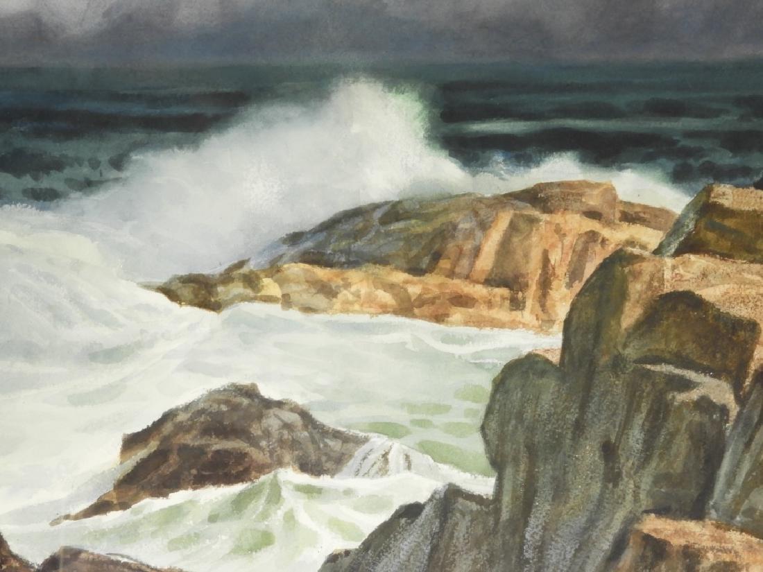 Joseph L. C. Santoro WC Rocky Coast Painting - 2
