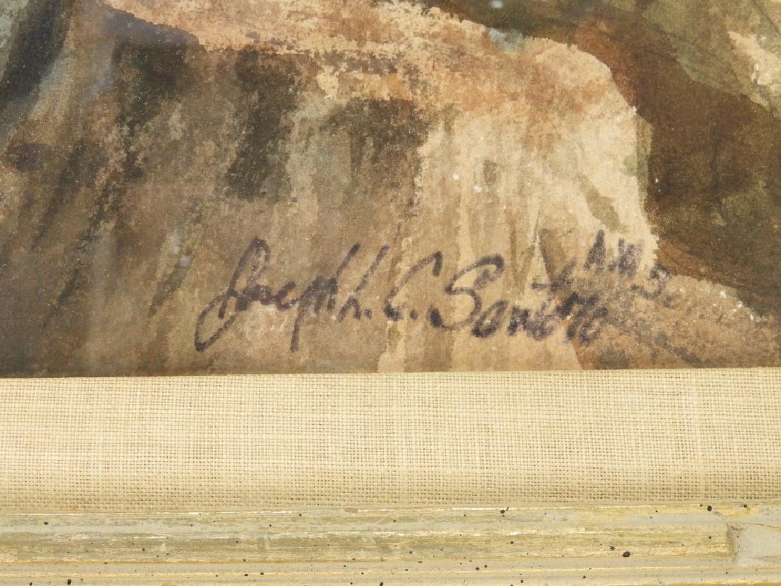 Joseph L. C. Santoro WC Rocky Coast Painting - 4