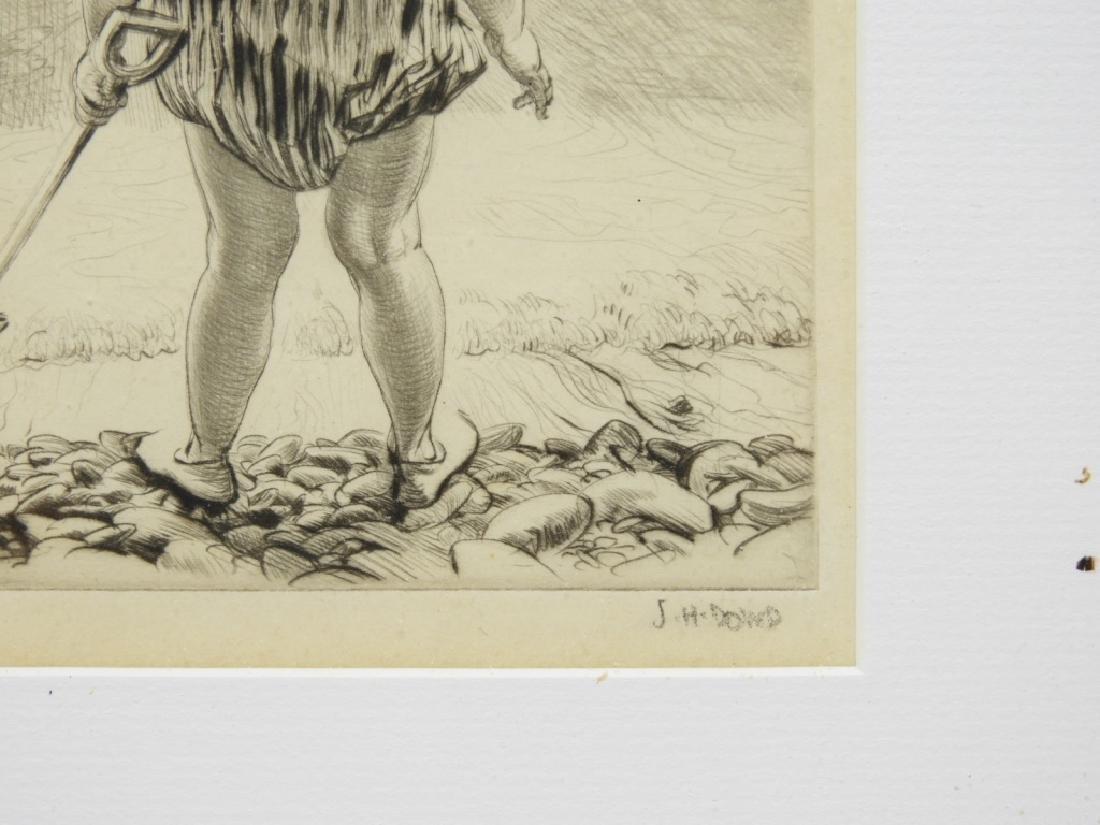 James Henry Dowd Children On Beach Etching - 4