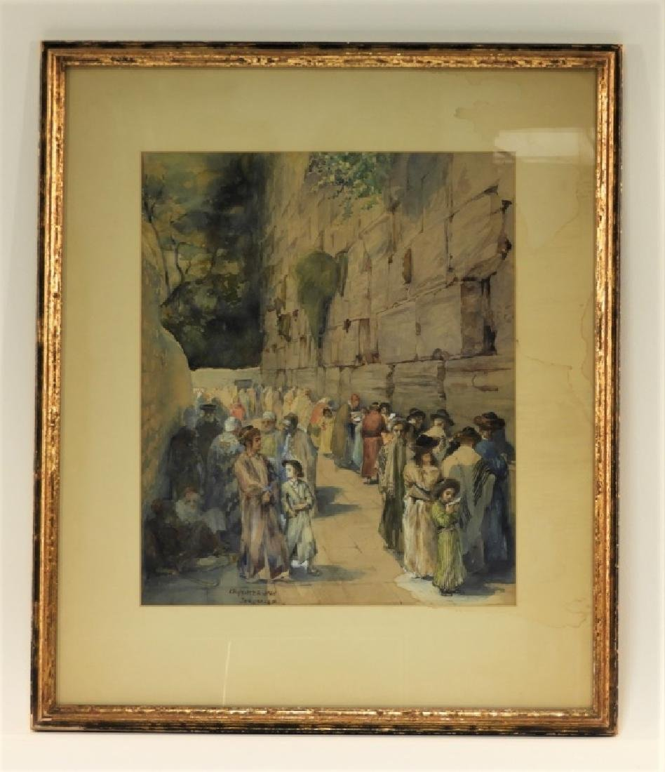 Anna Rychter-May Realist Judaic Jerusalem Painting - 2