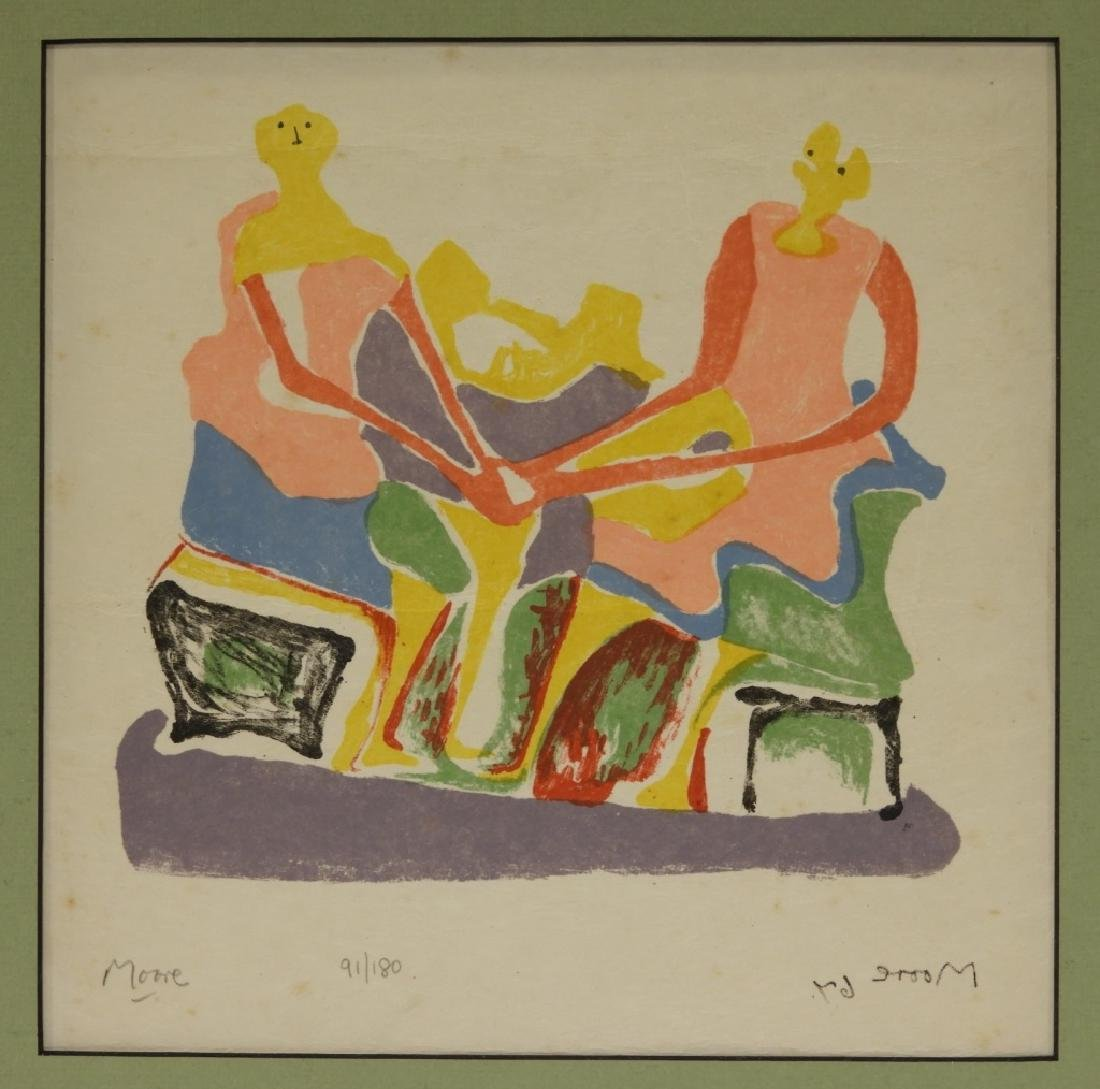 Henry Moore Shelter Sketch Book Cover Lithograph