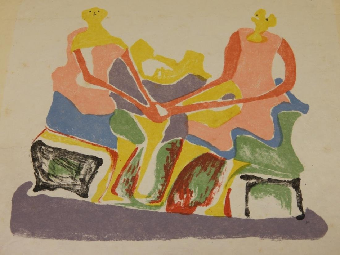 Henry Moore Shelter Sketch Book Cover Lithograph - 3