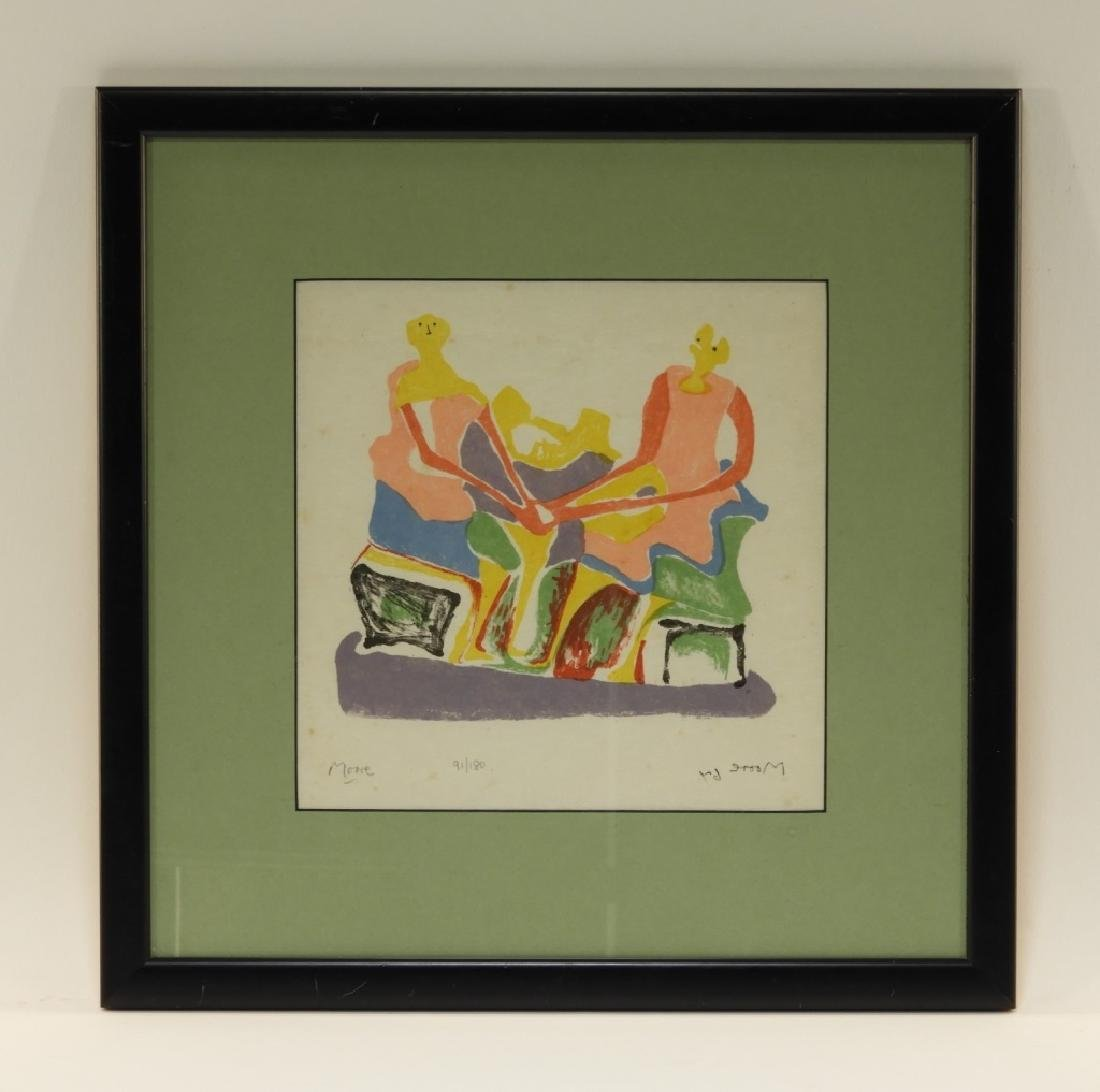 Henry Moore Shelter Sketch Book Cover Lithograph - 8