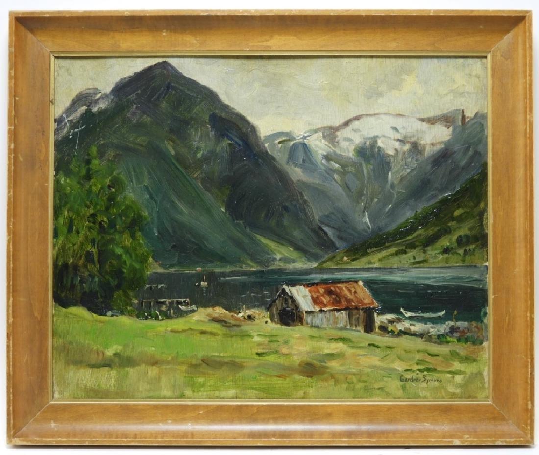 Gardner Symons Mountain Lake Landscape Painting
