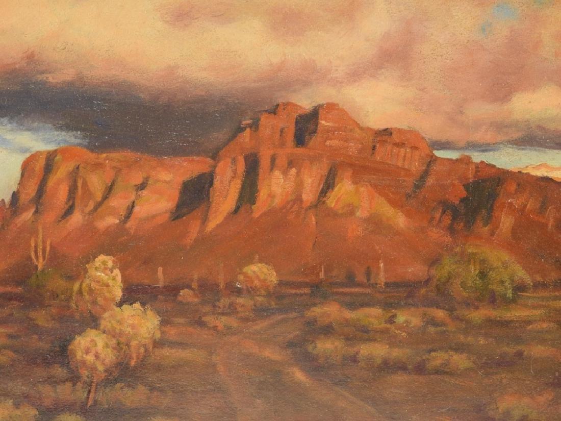 Harold Dunbar Southwestern Landscape O/B Painting - 2