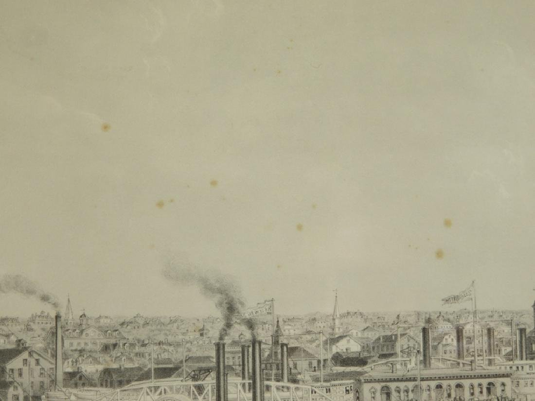 1870 J. P. Newell Lithograph of Newport Harbor - 7