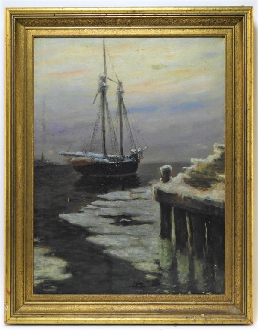 Frank Vining Smith Nocturnal Seascape Painting