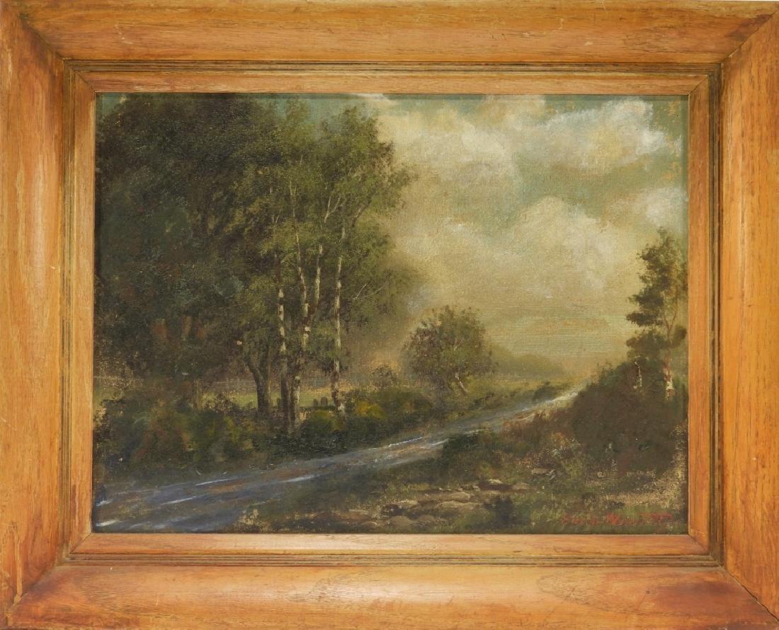 Emil Huenten German River Landscape Painting