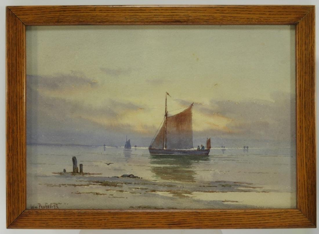 William Paskell Impressionist Painting of Sailboat