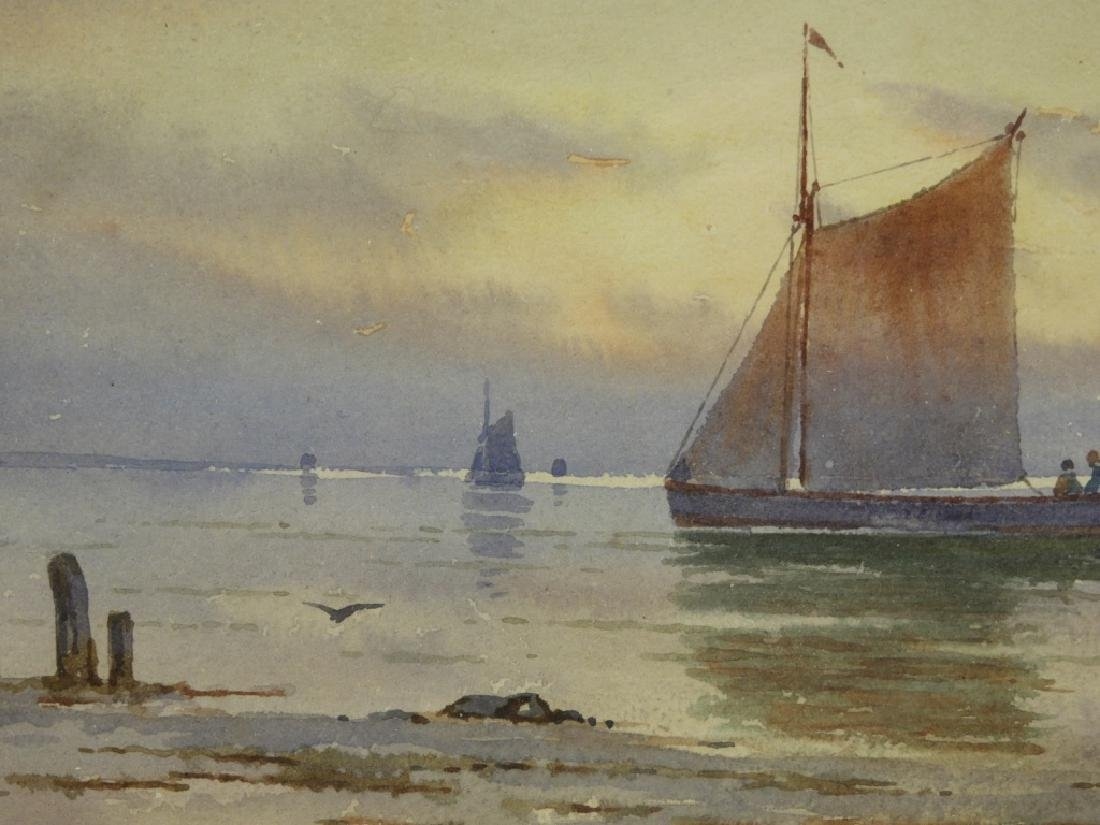 William Paskell Impressionist Painting of Sailboat - 3