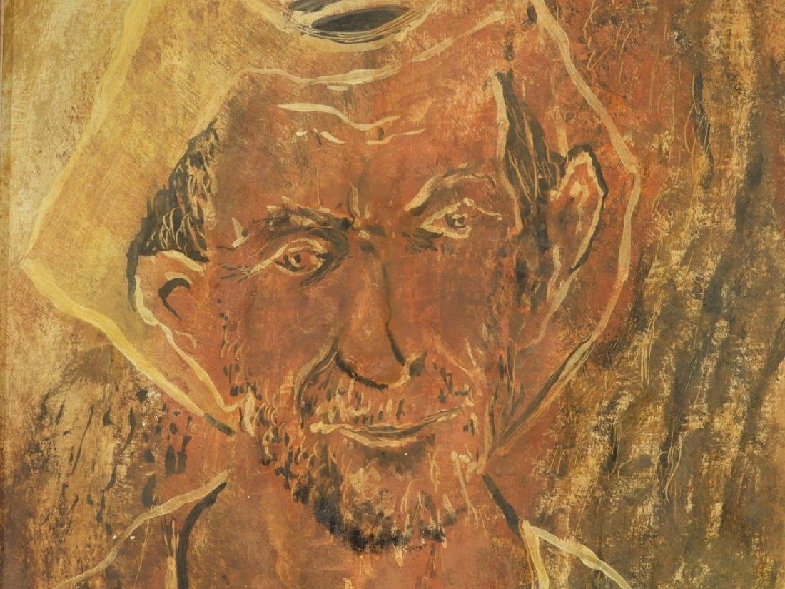 Janet Moore Expressionist O/B Portrait of Peasant - 3