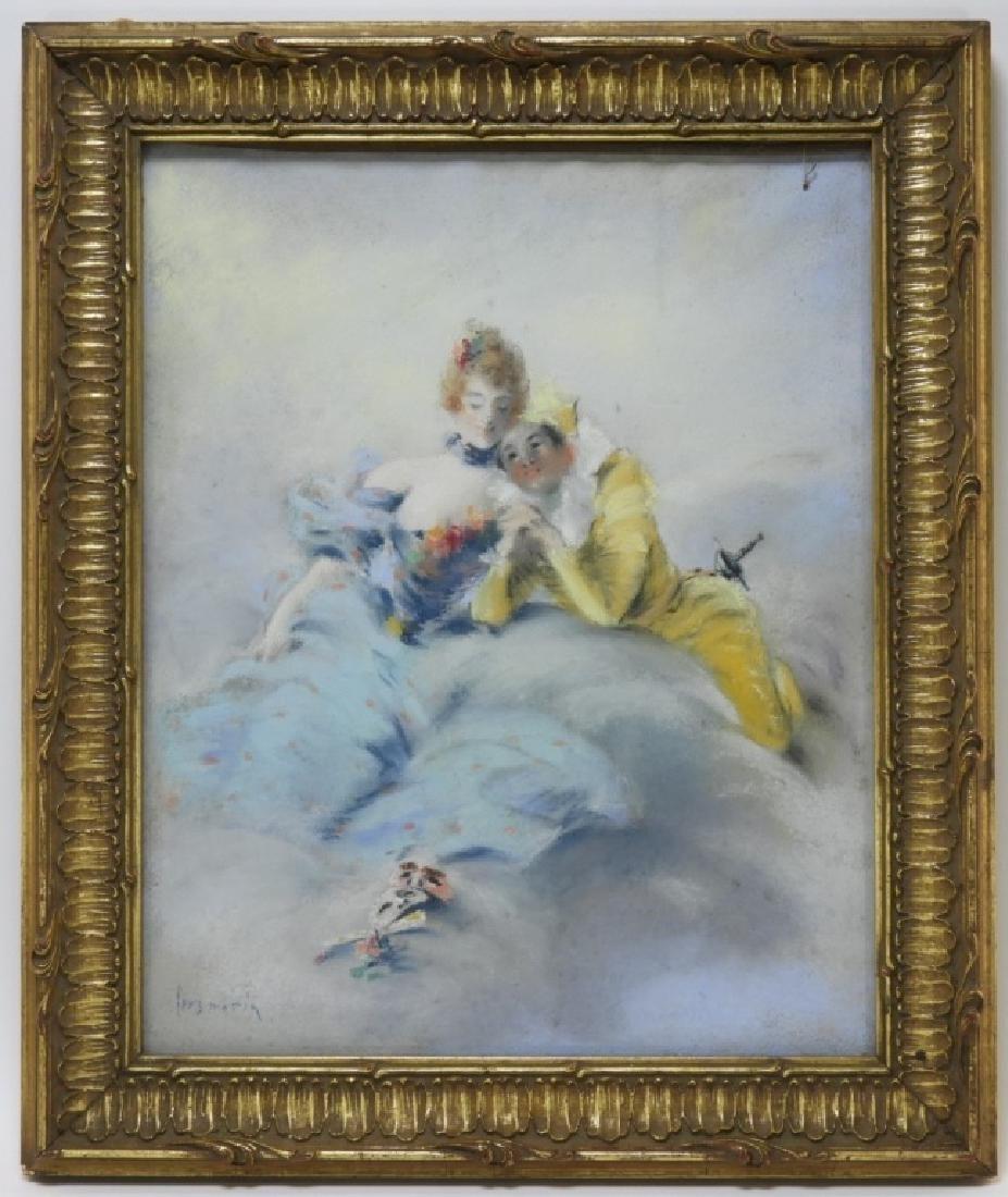 Louis Morin Impressionist Masquerade Painting