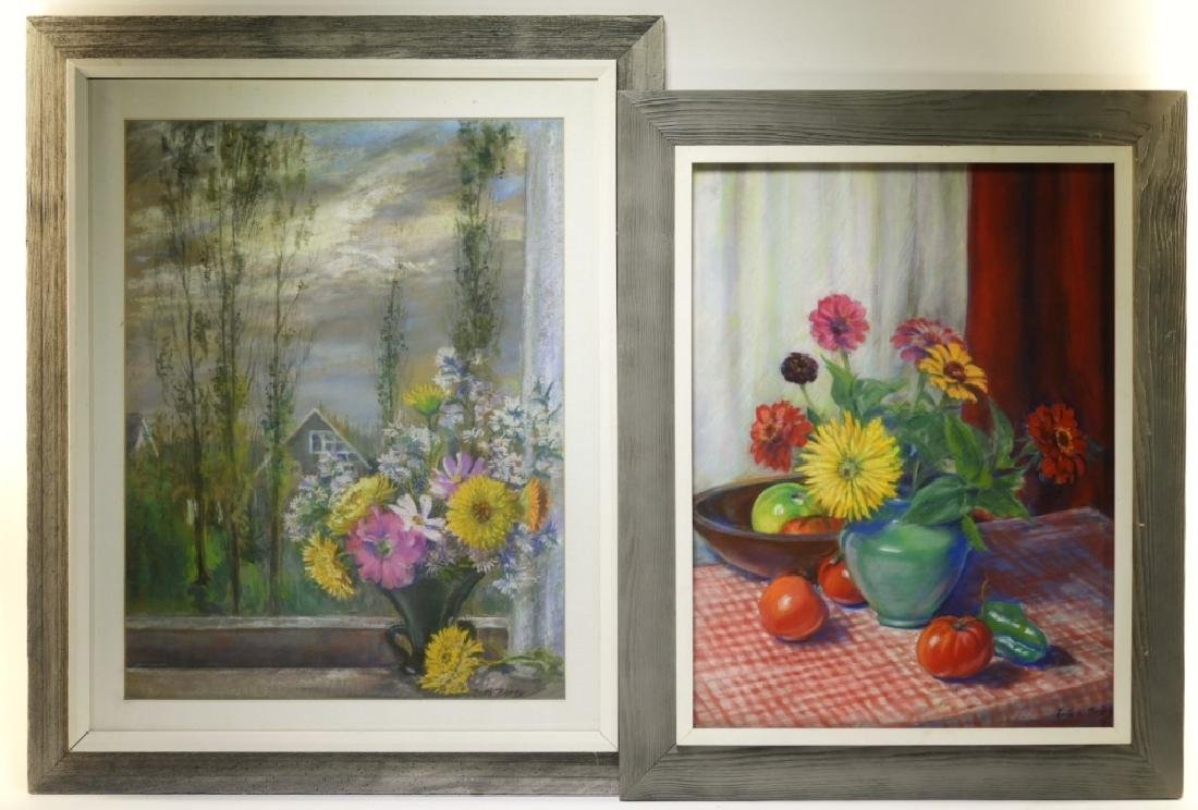 PR. Ruth Berry Floral Fruit Still Life WC Painting
