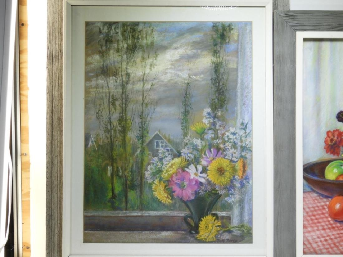 PR. Ruth Berry Floral Fruit Still Life WC Painting - 2