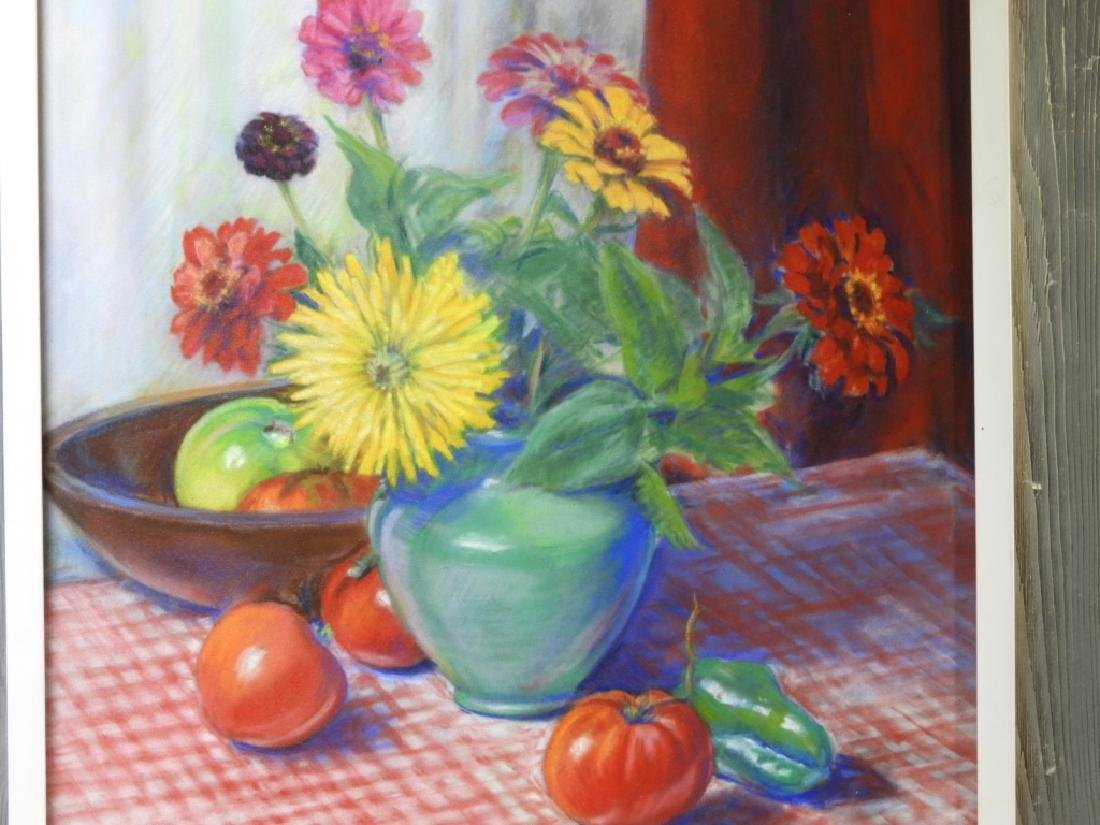 PR. Ruth Berry Floral Fruit Still Life WC Painting - 4