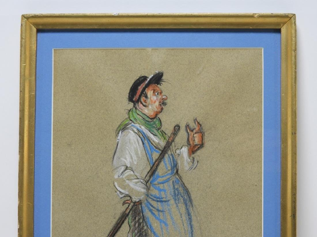 Nancy Dyer Sweeping Janitor Illustration Drawing - 2