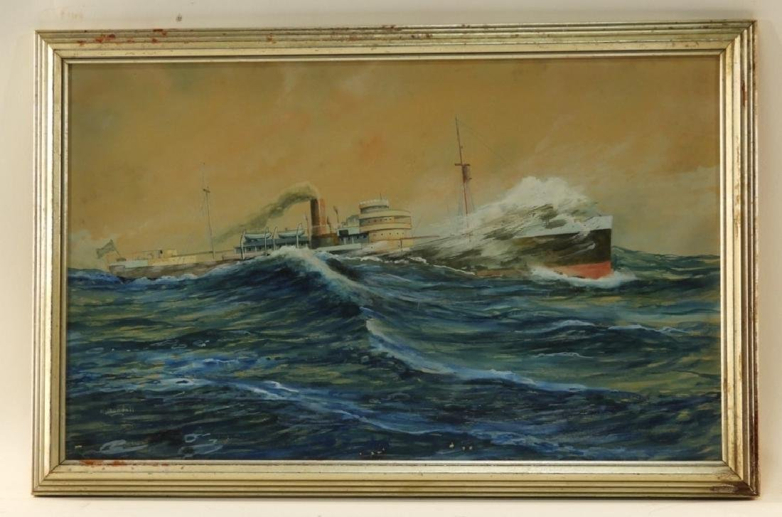 Wallace Randall WC Maritime Ship Painting
