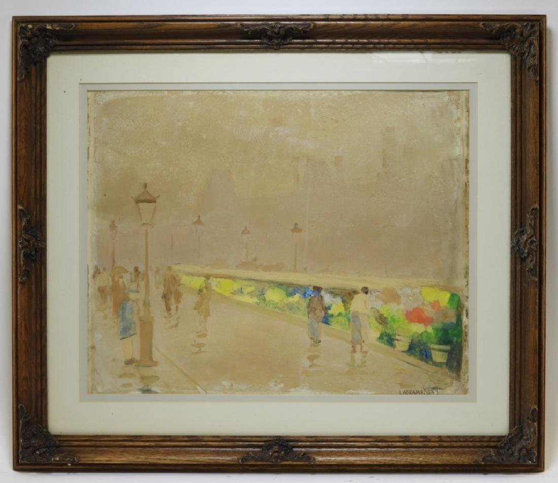 Israel Abramofsky Impressionist Boardwalk Painting