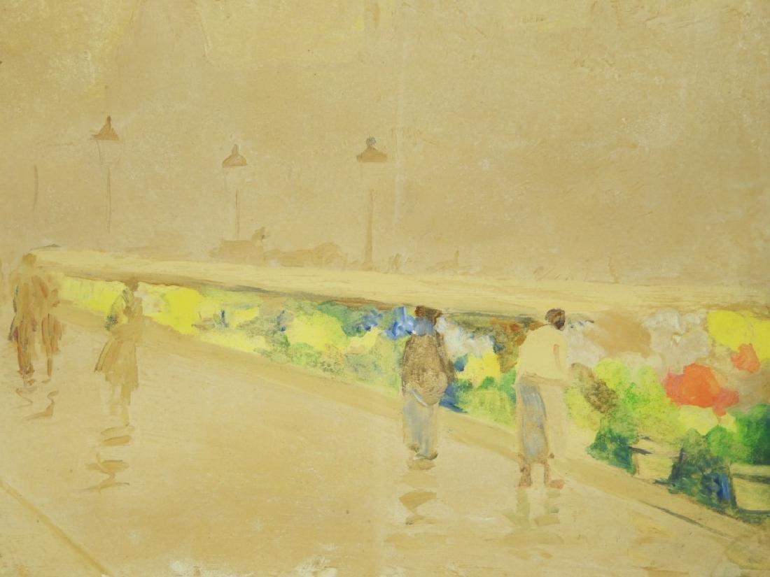Israel Abramofsky Impressionist Boardwalk Painting - 2