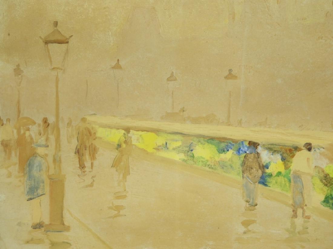 Israel Abramofsky Impressionist Boardwalk Painting - 3