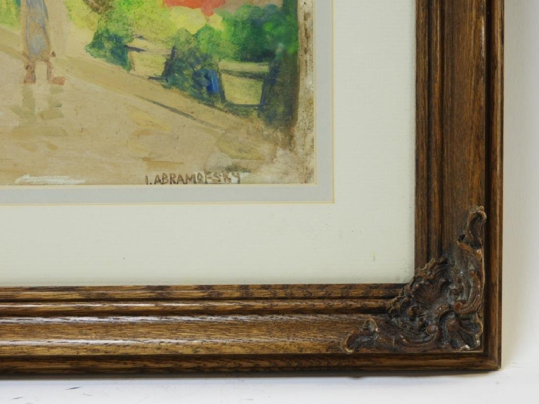 Israel Abramofsky Impressionist Boardwalk Painting - 4