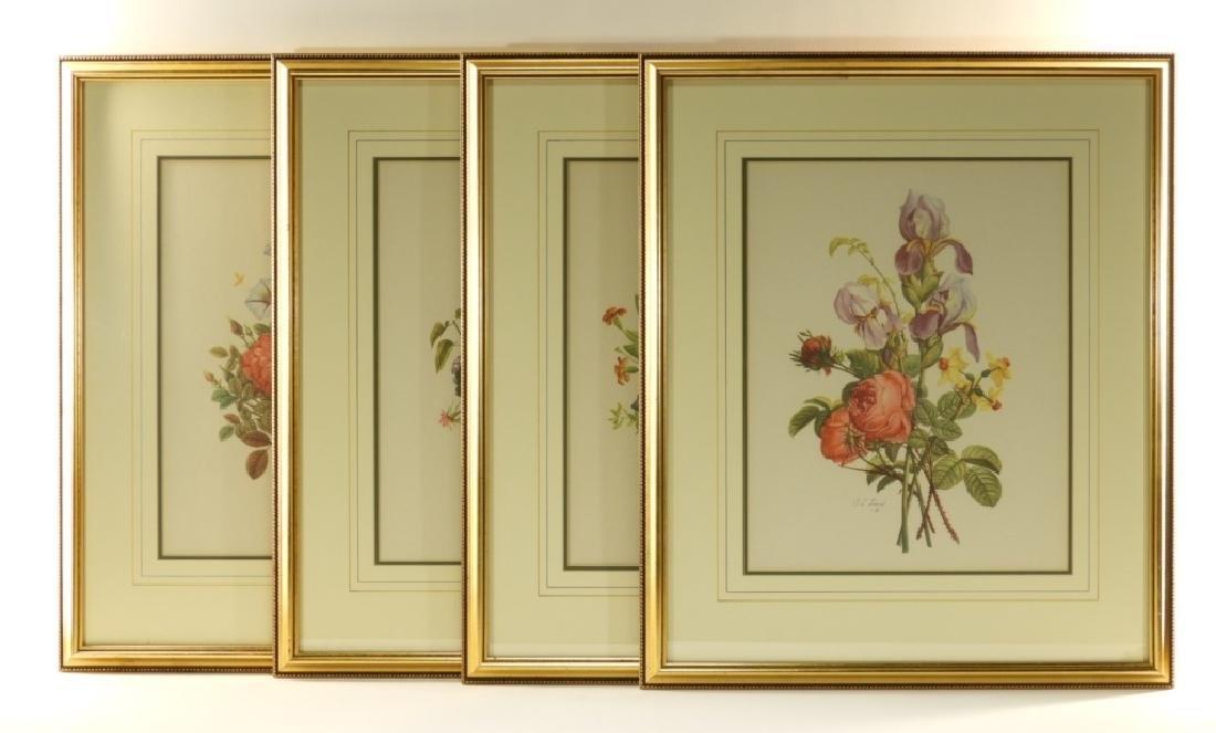 4 Prevost Decorative Floral Spray Botanical Prints