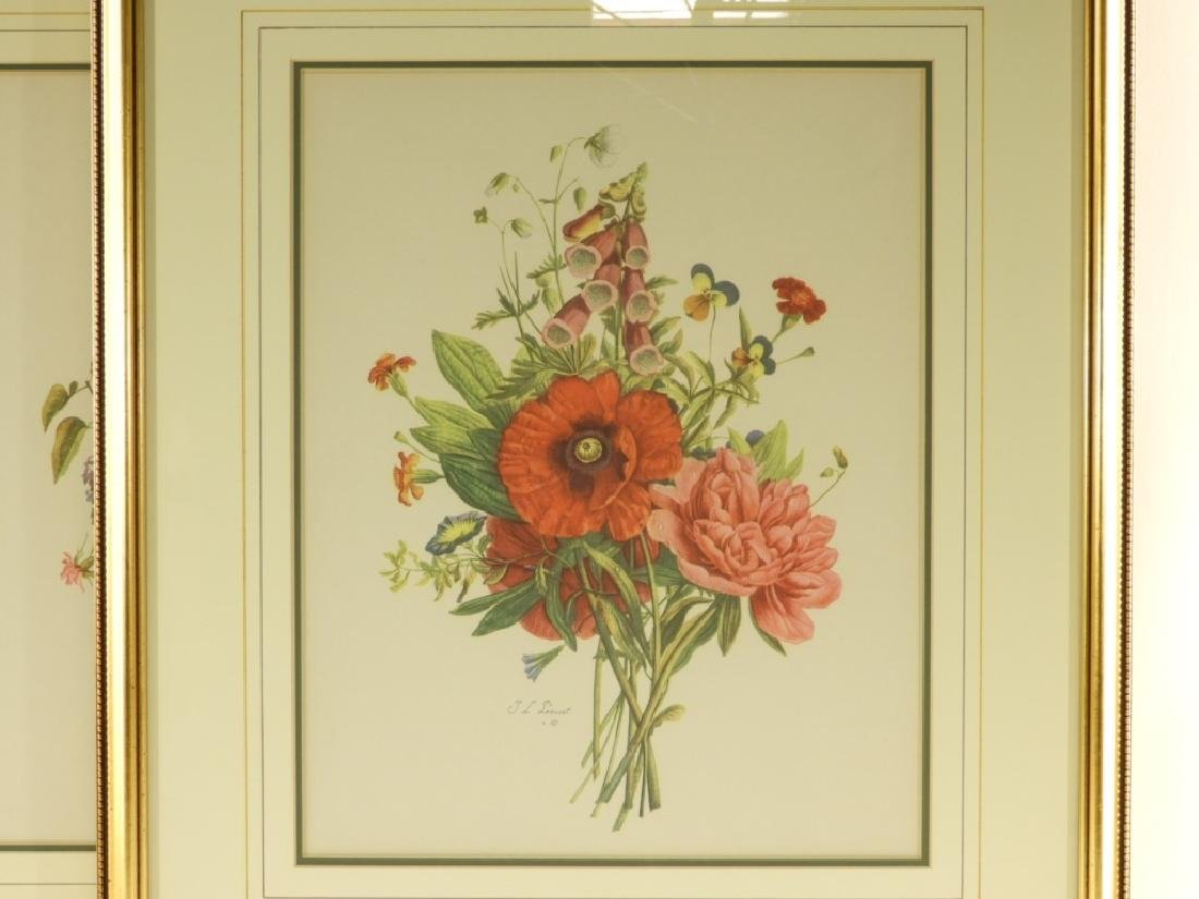4 Prevost Decorative Floral Spray Botanical Prints - 3