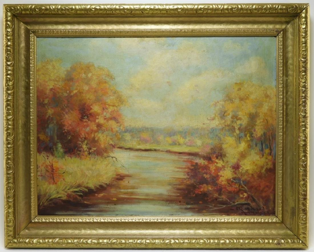 Raymond Hammell Autumn Landscape Painting