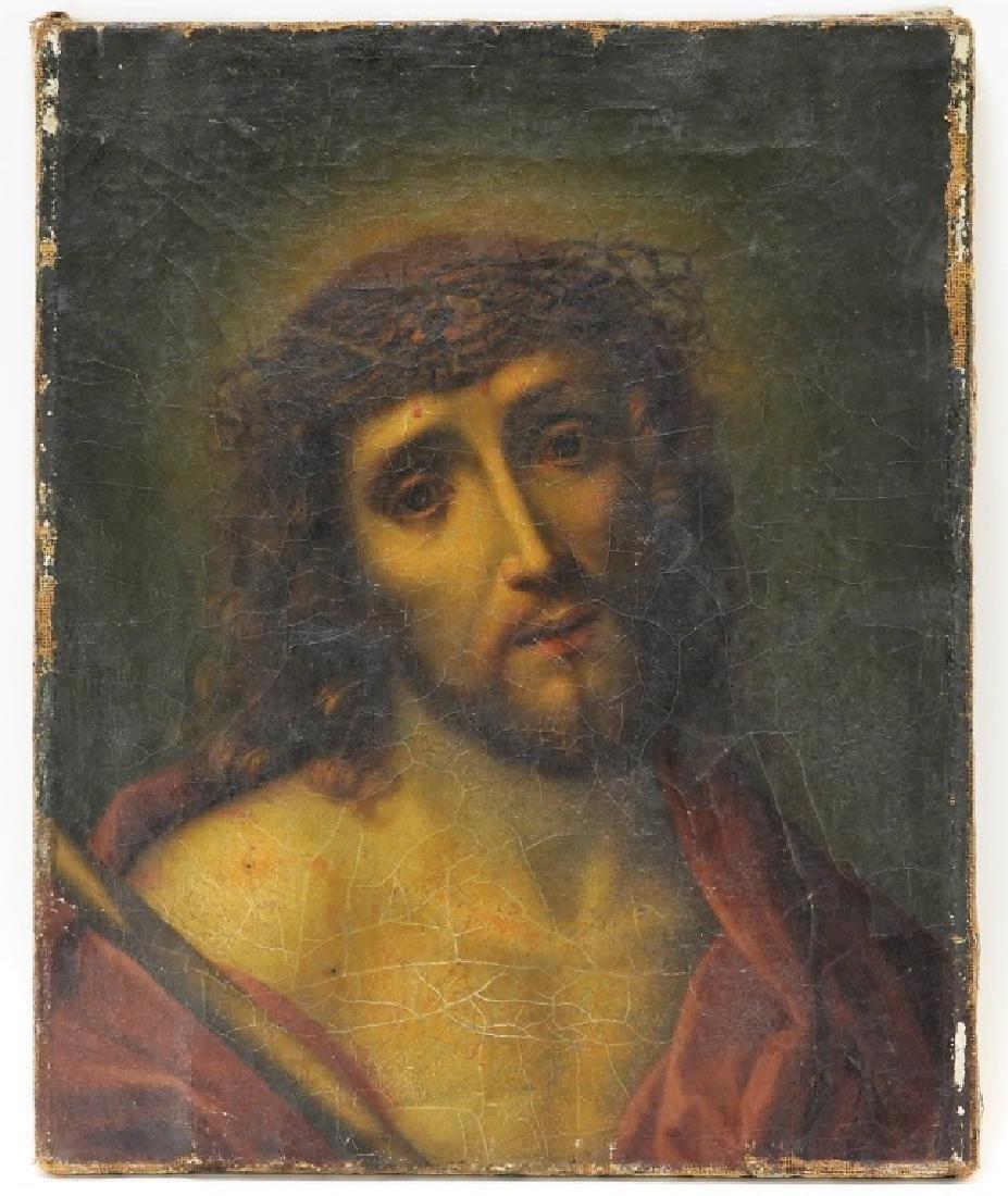 Italian Old Master O/C Painting of Jesus Christ
