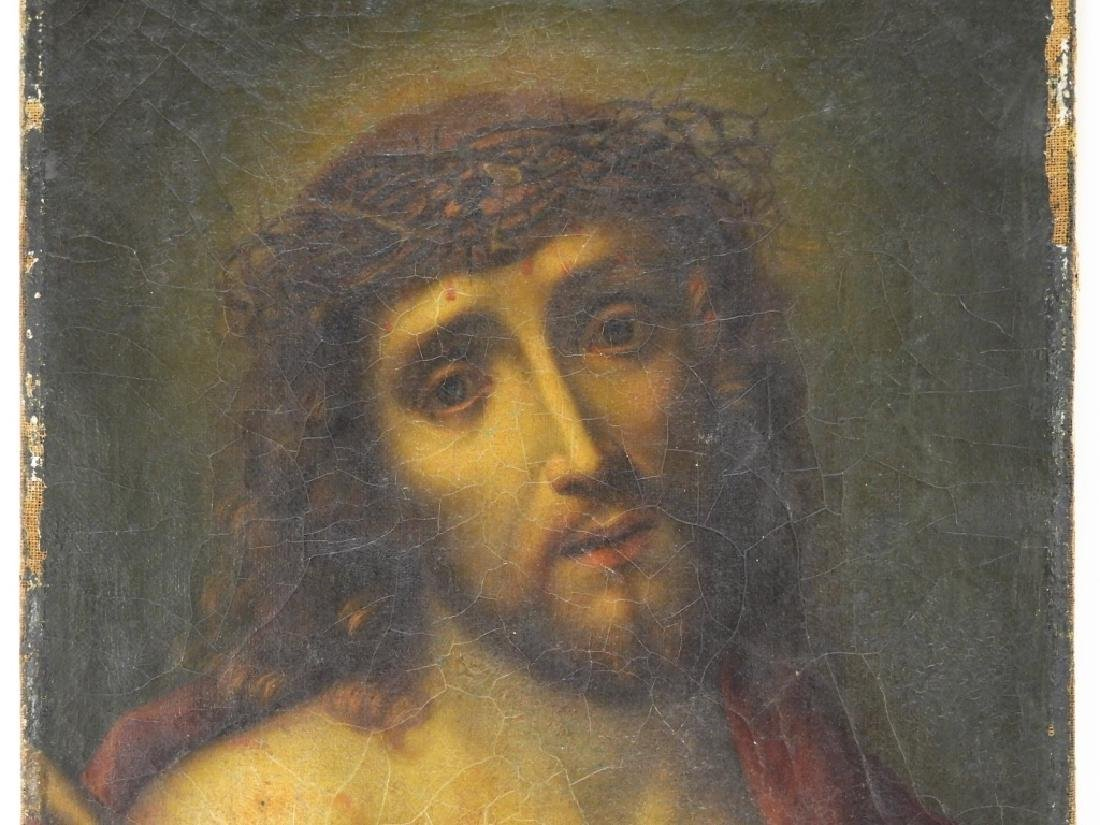 Italian Old Master O/C Painting of Jesus Christ - 2