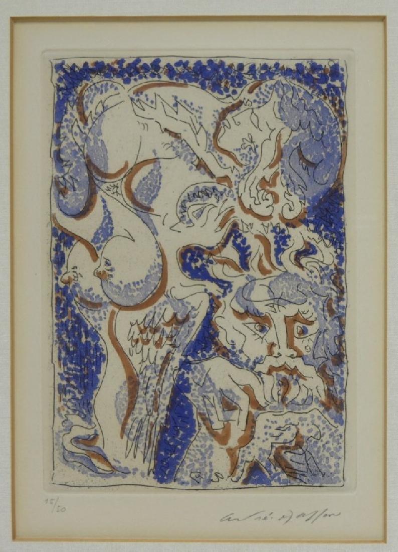 Andre Masson Artist Portrait Metamorphoses Etching