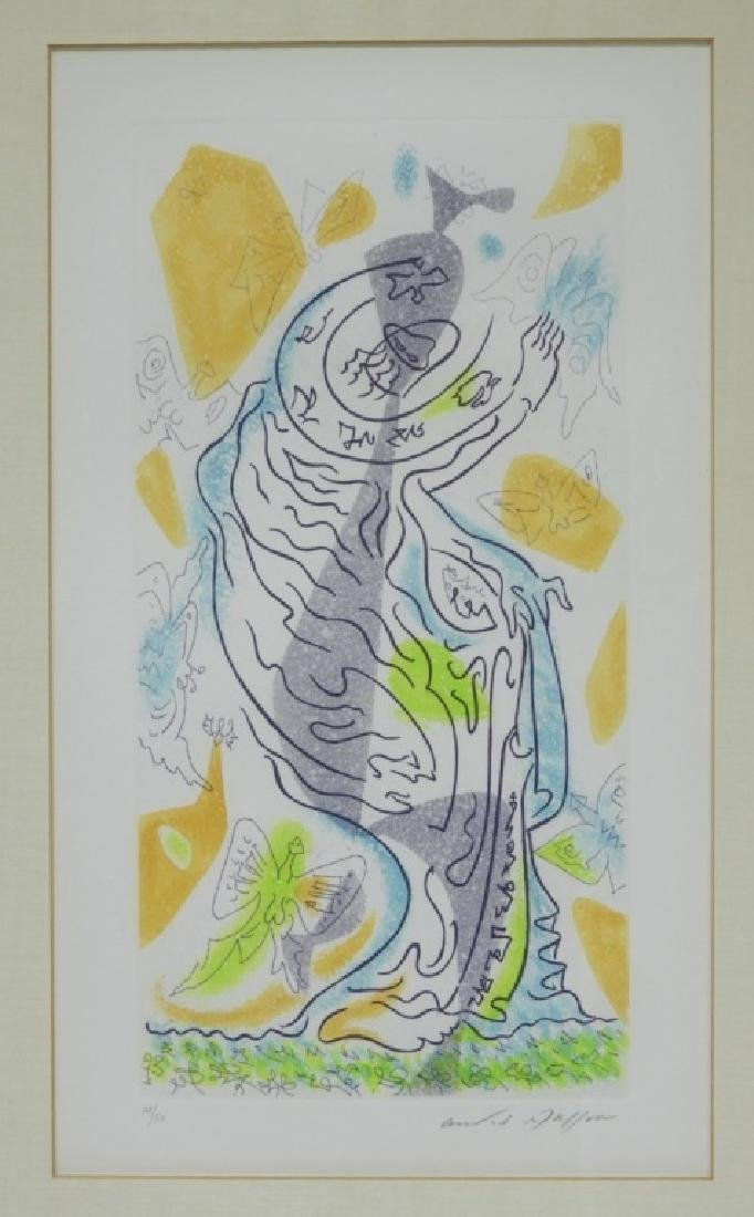 Andre Masson Charming Butterflies Etching Aquatint