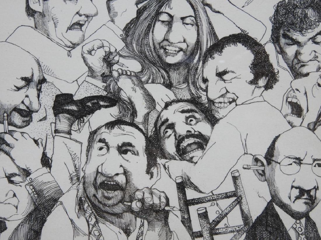 Charles Bragg Hung Jury Satirical Etching 8/150 - 3