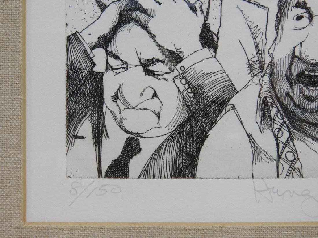 Charles Bragg Hung Jury Satirical Etching 8/150 - 5
