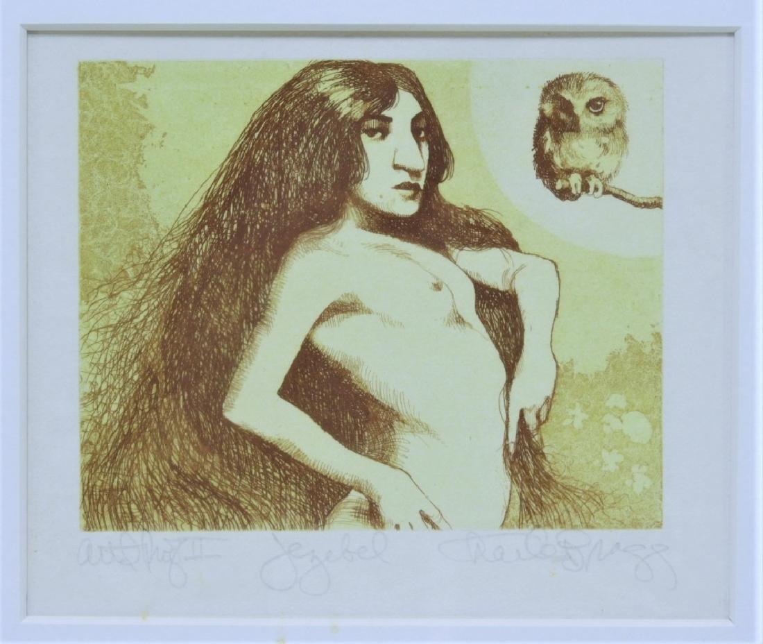 Charles Bragg Jezebel Nude Female Etching AP