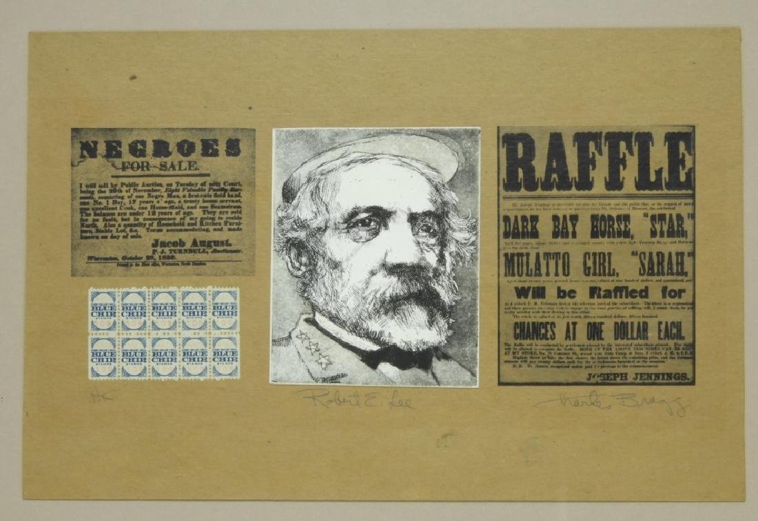 Charles Bragg Robert E. Lee Etching Assemblage