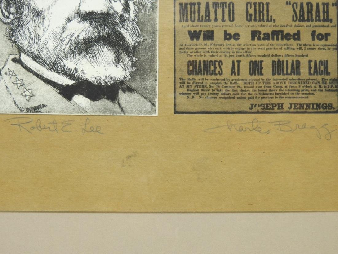Charles Bragg Robert E. Lee Etching Assemblage - 4