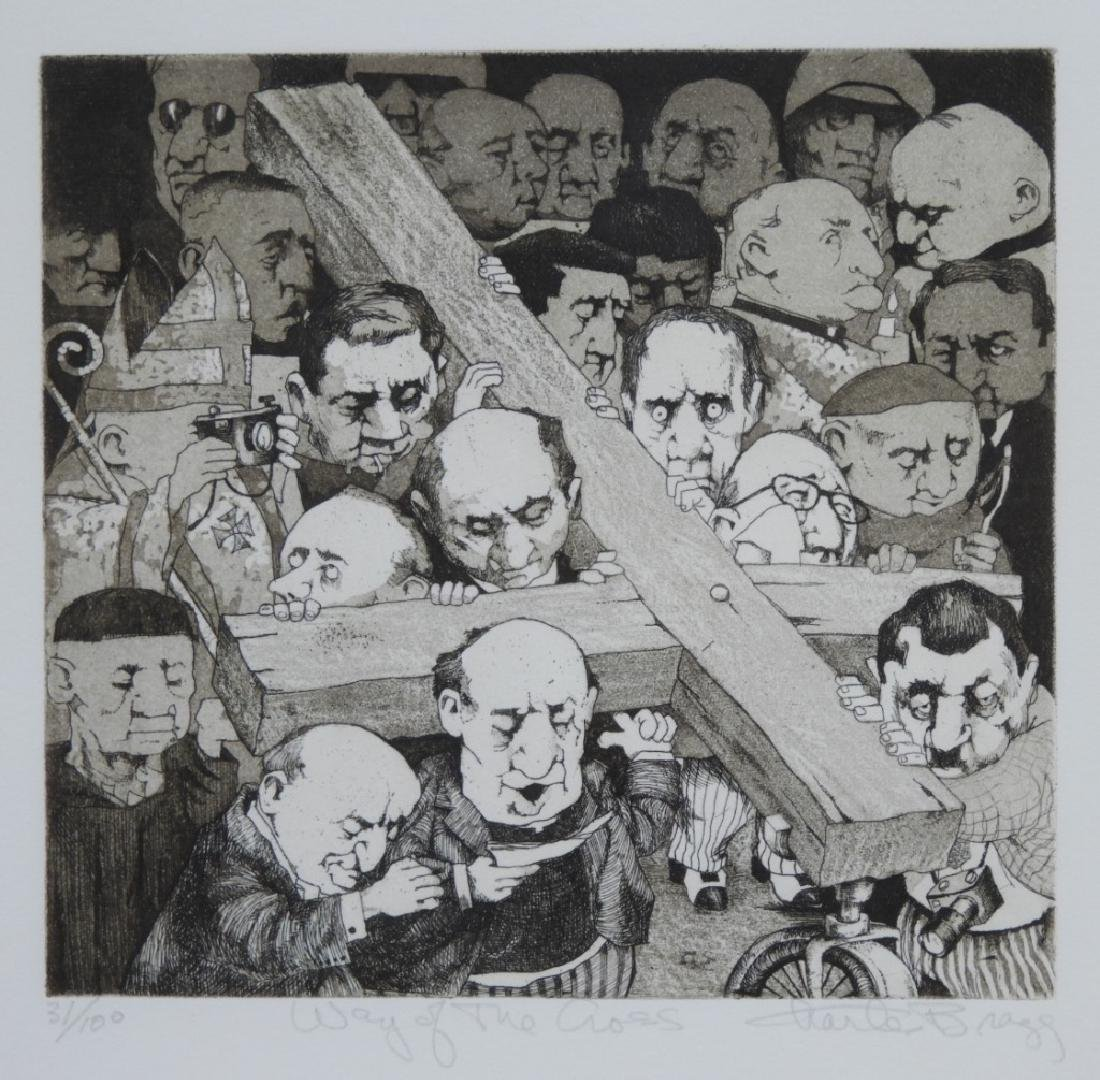 Charles Bragg Way of the Cross Etching 31/100