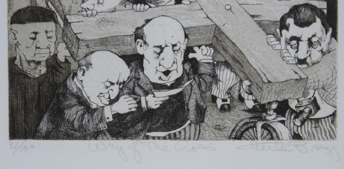 Charles Bragg Way of the Cross Etching 31/100 - 4